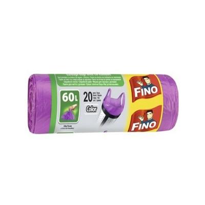 Saci menajeri 60L mov Fino cu toarte (20buc)