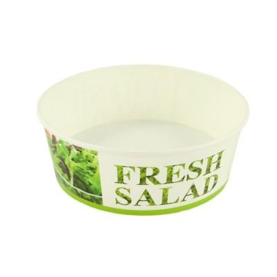 Bol salata din carton 1250cc (FRESH SALAD) + capac (50 buc/set)