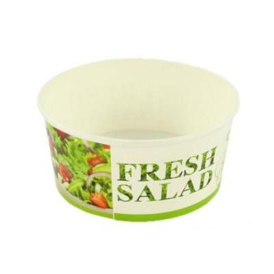 Bol salata din carton 750cc (FRESH SALAD) + capac (50 buc/set)
