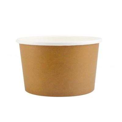 Boluri din carton maro, 16oz/473ml + capace - 0.38 lei/buc (50 buc/set)