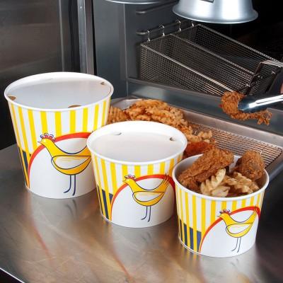 Boluri Chicken bucket din carton gros cu capac 2550cc - 3.6 lei/buc (50 buc/set)