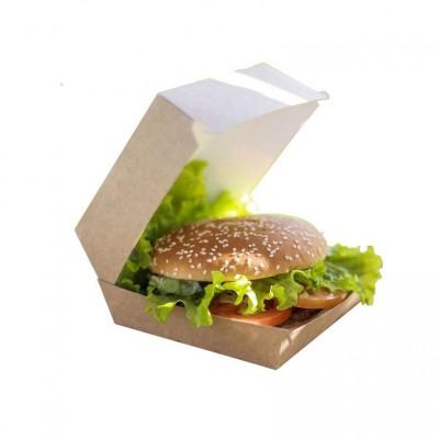Cutii carton Kraft natur Hamburger Mic 95X95X75