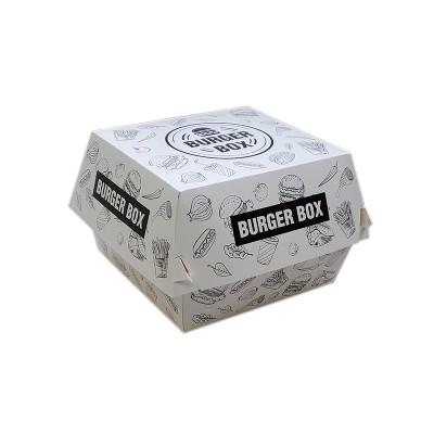 Cutii hamburger mediu albe design urban 117x106x89