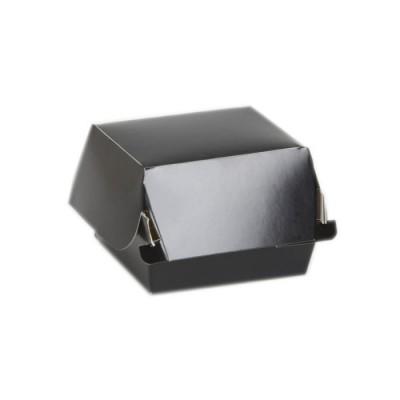 Cutii carton negru Hamburger Mare (100buc/set)