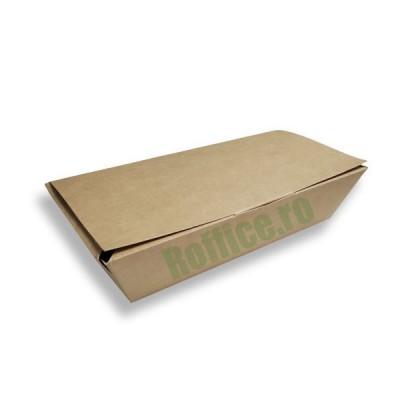 Cutii carton natur meniu aripioare, fish & cips, crispy medii (100buc/set)