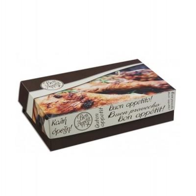 Cutii grill din carton gros laminat in interor pentru pui 0.5 Kg - 0.86 lei/buc (140 buc/set)