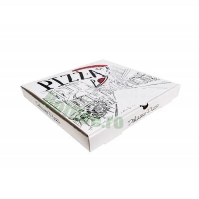 Cutii pizza URBAN albe 32 cm (100 buc/bax)