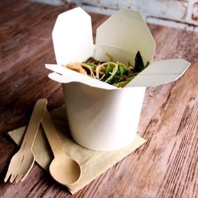 Cutii carton Paste Noodles 470cc albe  (500 buc/bax)