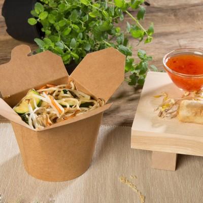 Cutii carton kraft - Paste & Noodles box 500 cc (50 buc/set)