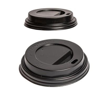 Capace negre pentru pahare din carton 14-16oz (100buc/set)