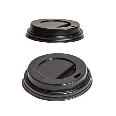 Capace negre pentru pahare din carton 8oz (100buc/set)