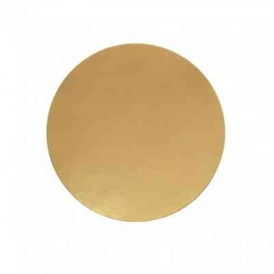 Discuri aurii carton 18 cm Italia (100 buc/set)