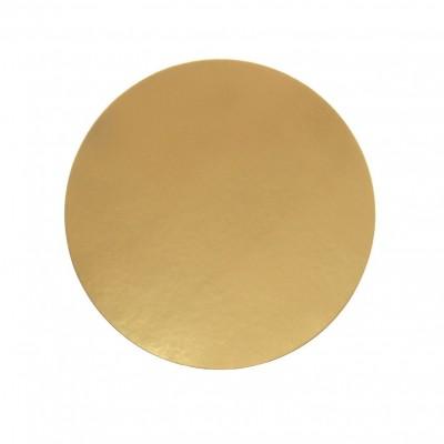 Discuri aurii carton 22 cm Italia (100 buc/set)
