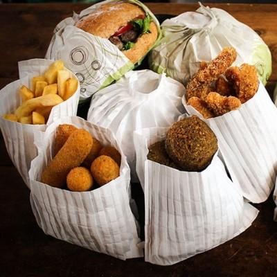 Ambalaj Magic Bag din hartie pentru cartofi prajiti - 0.49 lei/buc (250 buc/set)