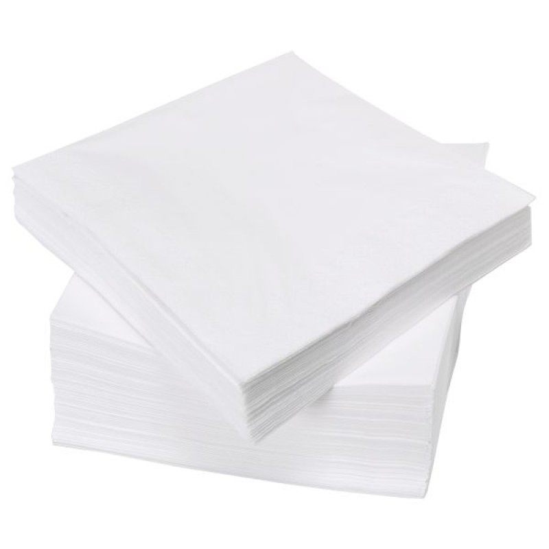Servetele albe 25x25 vrac 2000 buc / 2kg