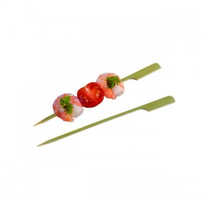 Bete aperitiv din bambus cu capat plat 12cm (100buc)