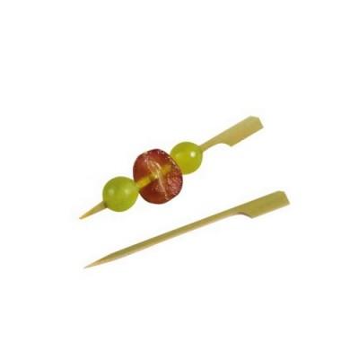 Bete aperitiv din bambus cu capat plat 9cm (100buc)