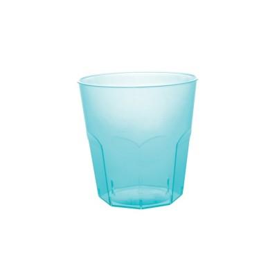 Pahare 220cc Cocktail Transparent Turquoise PS - (1000buc)