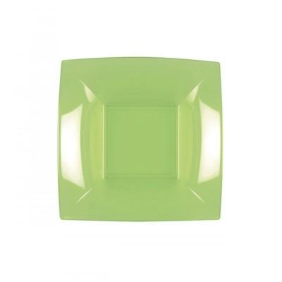 Farfurii Supa 18x18cm Acid Green PP - (300buc)