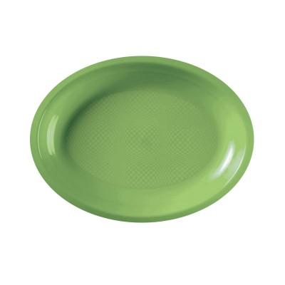 Farfurii ovale 255mm Light Green PP - (600buc)