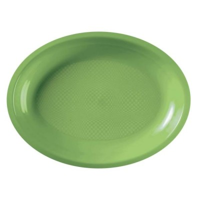 Farfurii Ovale 305mm Light Green PP - (300buc)