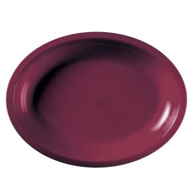 Farfurii Ovale 315mm Burgundy PP - (300buc)