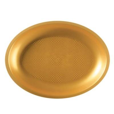 Farfurii Ovale 315mm Gold PP - (240buc)