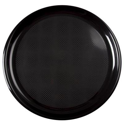 Farfurii pizza Ø350 mm negre PP - (144buc)