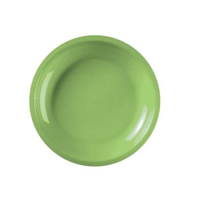 Farfurii rotunde Ø220mm Light Green PP - (600buc)