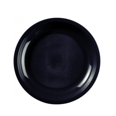 Farfurii rotunde Ø220mm Black PP - (600buc)
