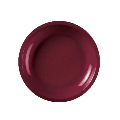 Farfurii rotunde Ø220mm Burgundy PP - (600buc)