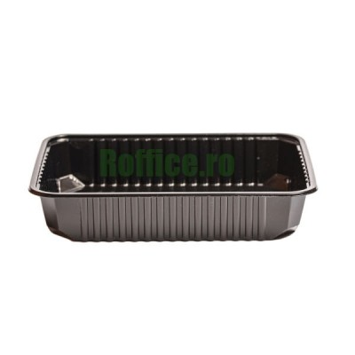 Caserole Negre Termorezistente EUROBOX 500cc - 0.35 lei / buc (200 buc/set)