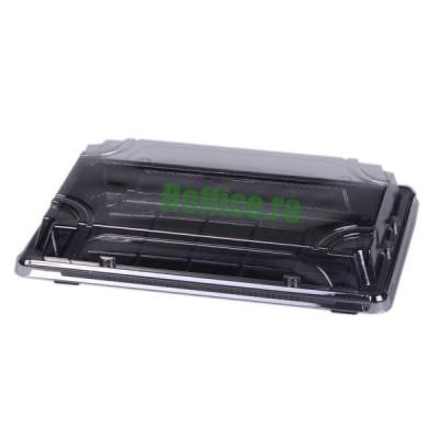 Caserole negre Sushi cu capac LIMERA L-ST5 - 0.54 lei / buc (400 buc/bax)