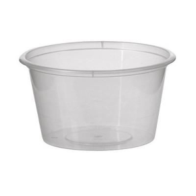 Sosiere din plastic, rotunde de 100 cc PET cu capac detasabil - 0.111 lei/buc (1000 buc/bax)