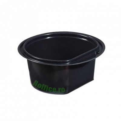 Boluri negre din PP, 500ml + Capac - 0.62 lei/buc (50 buc/set)