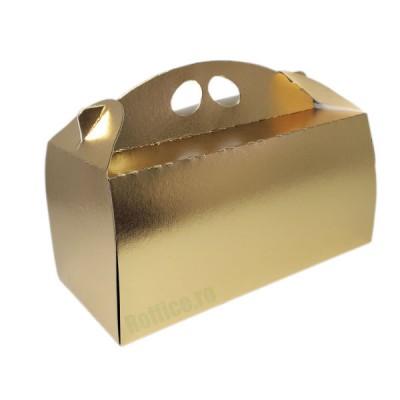 Cutii carton aurii pentru cozonaci (100buc/set)