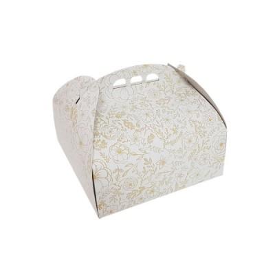 Cutii tort insertii aurii 25x25 (25buc/set)