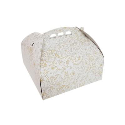 Cutii tort insertii aurii 27X27 (25buc/set)