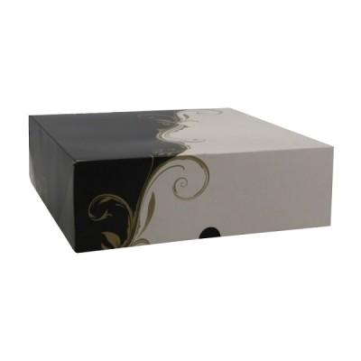 Cutii negru cu alb cu capac 23x23x8 (50buc)
