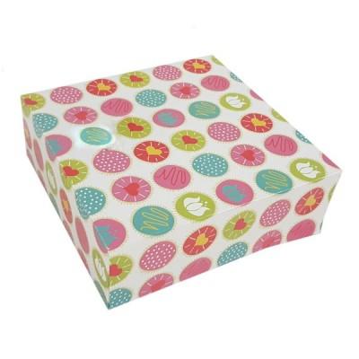 Cutii color cu capac (patiserii) 25x25x8 (50buc/set)