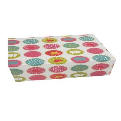 Cutii color cu capac (patiserii) 34x24.5x7 (50buc/set)