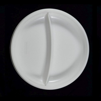 Farfurii plastic compartimentate 2 (PS) 21cm (50buc)
