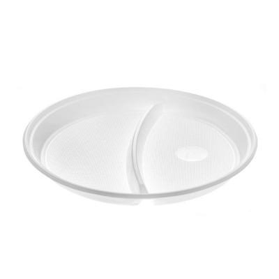 Farfurii plastic compartimentate 2 (PP) 22cm (100buc)