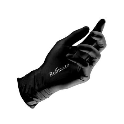 Manusi Nitril negre (L) - 100 buc/cut