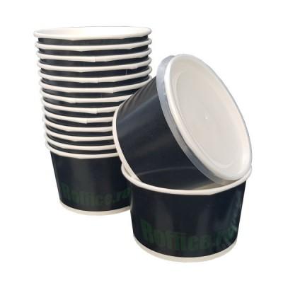 Boluri din carton negru, 12oz/350ml - (500 buc/bax)