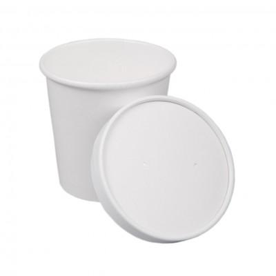 Boluri din carton alb, Ø98, 16oz/470ml - 0.44 lei/buc (25 buc/set)