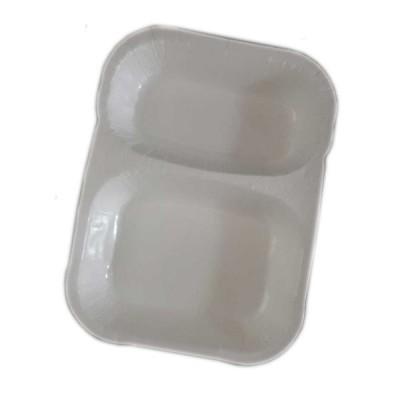 Caserole termosudabile din carton 2 compartimente 580+380 ml (400buc/bax)
