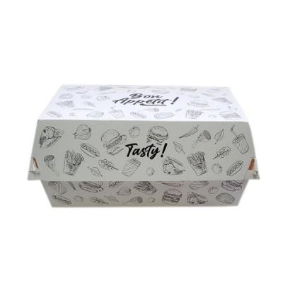 Cutii meniu din carton albe design urban (100buc/set)