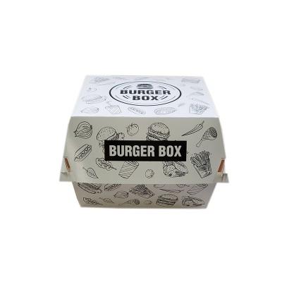 Cutii hamburger mic albe design urban 95x95x75