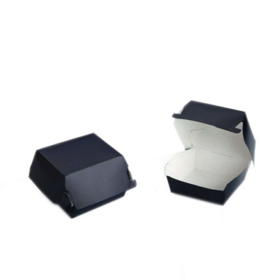 Cutii carton negru Hamburger Mic (100buc/set)
